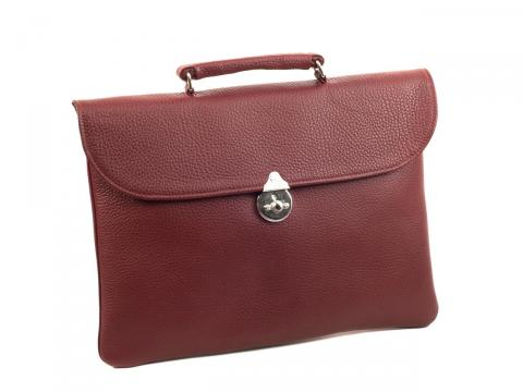 Thin Briefcase with Leather Lining