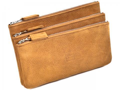 Three-Compartment Zipper Bag