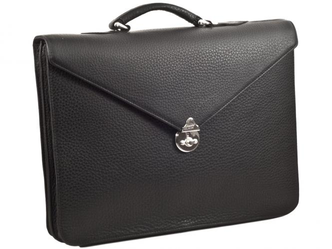 """Pure Envelope"" 2-Compartment Briefcase with Leather Lining"