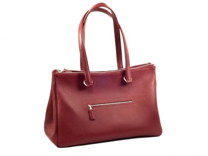 Shopper Handbag Double Zipper