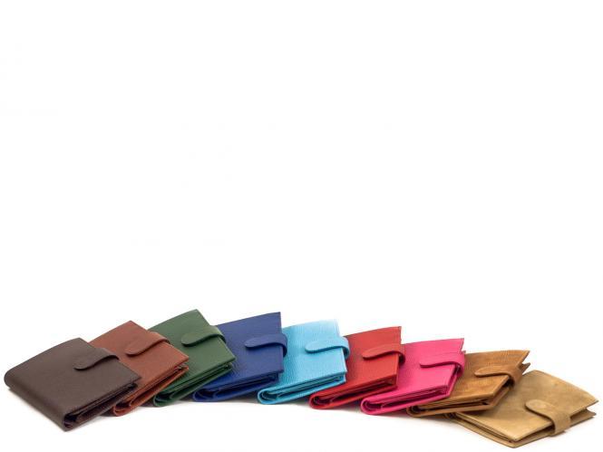 Geldbörse Reisepass mit Klappe und Lasche