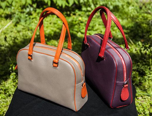 farbenfrohe Handtaschen